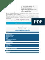 Documentos Duplicados