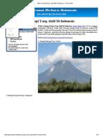 Daftar Gunung Berapi Yang Aktif Di Indonesia » Terbaru 2015