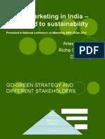 Green Marketing in India –Way ahead to
