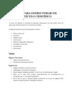 Guía Para Estructurar Un Artículo Científico