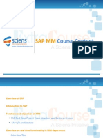 SAP MM Course Content