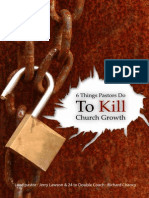 6 Things Pastors Do to Kill Church Growth Epub