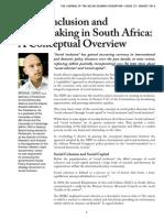 Inclusión siocial en Sudafrica