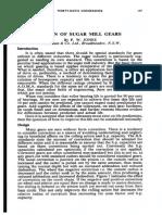 Design of Sugar Mill Gears by p.w.jones