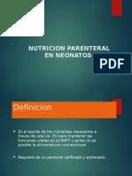 Nutricion Parenteral en Neonatos
