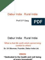 dabur India :Rural India