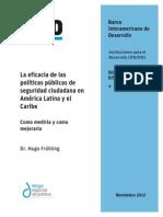 La Eficacia de Las Políticas Públicas de Seguridad Ciudadana en América Latina y El Caribe(1)