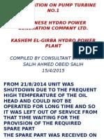 Presentation on Pump Turbine No.1