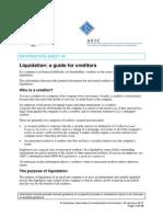 Liquidation a Guide for Creditors