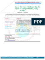 Optimal Location of DG Units with Exact Size for the Improvement of Voltage Stability Using SLPSO