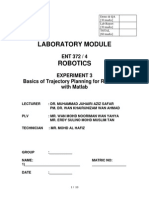 Lab 3 - Basic Trajectory Planning With Matlab