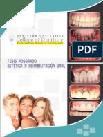Tesis de Posgrado de Estética y Rehabilitación Oral