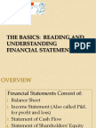 4 the Basics Reading and Understanding Financial Statements