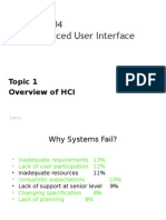 Overview of HCI