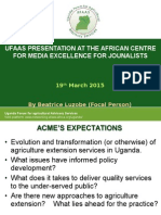 The Evolution, Function and Challenges of Agriculture Extension Services in Uganda