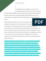 assessment task 1- letter