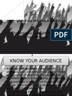 The Significance of Audience Analysis