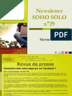 Newsletter Soho Solo n°29 Février 2010