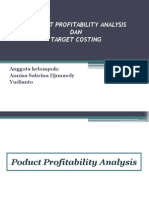 product profitability analysis dan target costing