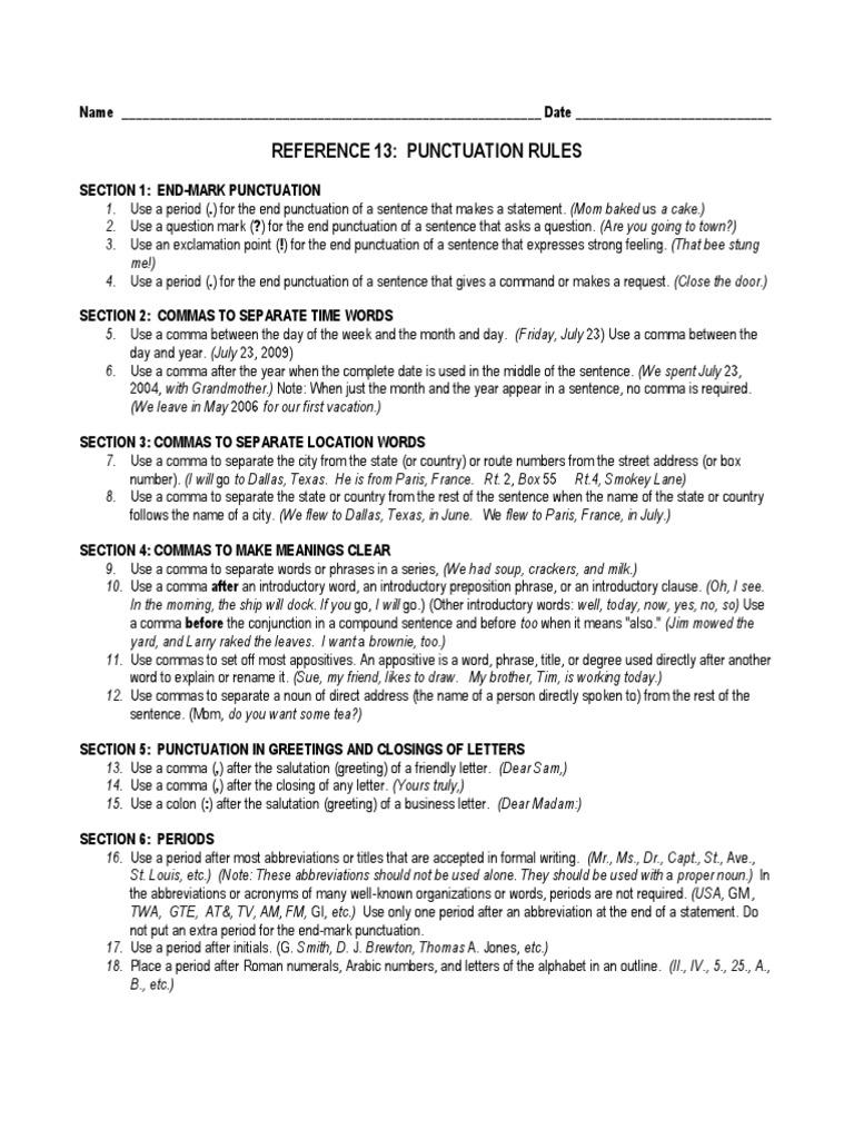 Shurley english punctuation rules comma punctuation kristyandbryce Choice Image