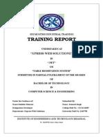 Six Months Industrial Training Final 1