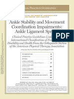 Ankle Stability and Movement
