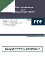 konsekuensi ekonomis dan teori akuntansi positif