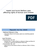 Health and Social Welfare Laws Affecting Rights Of