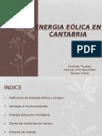 Energia Eolica en Cantabria.andrea Trueba 2g