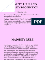 Majority rule and  Minority protection