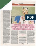 Tanzania Making Good Progress in Conservation - Yolanda (WWF President) 2(1).Rotated