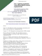 Restoration Genetics Resources