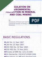 Regulation on Mining Environment