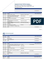 Programme for the 6th WFPhC-Congress Modern Physics in School and in Competitions