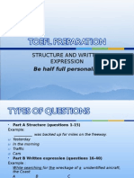 TOEFL PREPARATION Structure and Written Expression