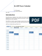 Working With ADF Faces Calendar Component