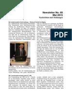 Mai 2015 (Newsletter Nr. 69)