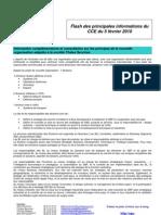 Flash Des Principales Informations Du CCE Du