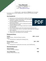 Sample CV - Process Worker