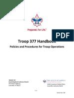 troop 377 policies and procedures handbook 5-5-2015