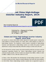 Global and China High-Voltage Inverter Market Analysis 2015-2018