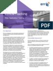 BT Assure Ethical Hacking - Web Application Testing Datasheet