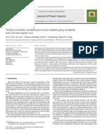Techno-economic Comparison of Series Hybrid, Plug-In Hybrid,