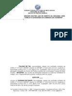 Modelo Petição Inicial NPJ U