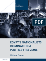 Egypt's Nationalists Dominate in a Politics-Free Zone