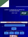 Diseño y elaboracion de proyectos de investigacion