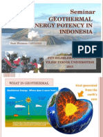 Geothermal Potency in Indonesia