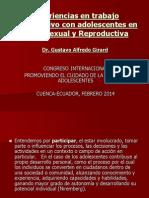 GUSTAVO GIRARD_Experiencias en Trabajo Participativo Con Adolescentes en Salud Sexual y Reproductiva