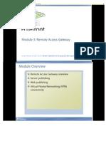 Module 03 Remote Access Gateway