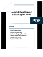 Module 2 Installing and Maintaining ISA Server